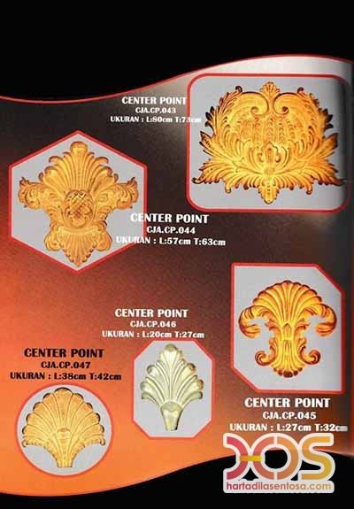 Center Point Besi Tempa Ornamen