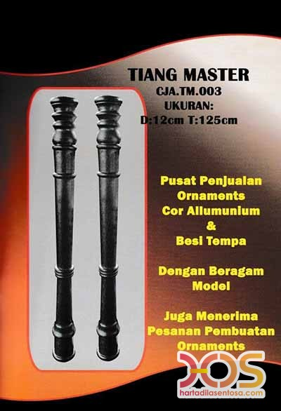 Tiang Master Ornamen Besi Tempa