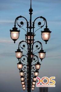 Desain Tiang Lampu PJU